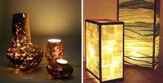 Diseña una lámpara con papel maché