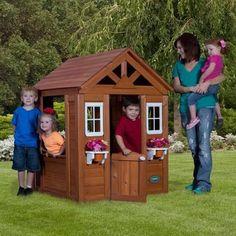 Backyard Discovery Timberlake Cedar Wooden Playhouse - $168 at Walmart