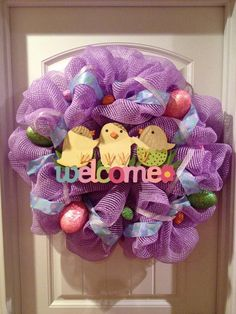 Poly Mesh Easter Wreath by MaddyMooNTrixie2 on Etsy, $85.00