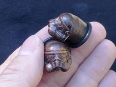 Stormtrooper plugs. Handmade Custom Body Jewelry by OddmoorePlugs, want want want want
