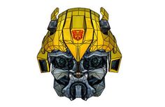 Transformers - Bumblebee Helmet Ver.2 Free Papercraft Download - http://www.papercraftsquare.com/transformers-bumblebee-helmet-ver-2-free-papercraft-download.html#Bumblebee, #Helmet, #Transformers