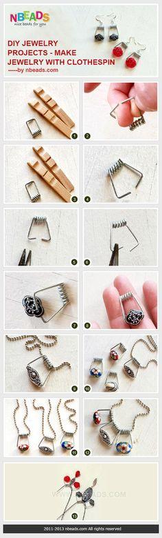 progetti di gioielli fai da te - fare gioielli con molletta