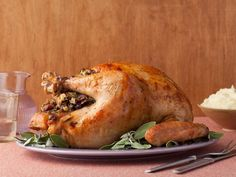Get Turkey with Stuffing Recipe from Food Network