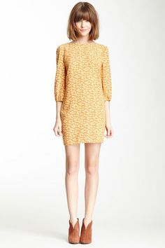 Pink Owl Floral Print Shift Dress by Non Specific on @HauteLook
