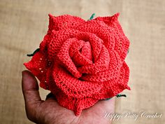 Large Centerpiece Rose Crochet Pattern