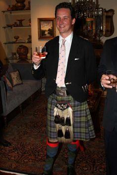 Torquhil Ian Campbell, 13th & 6th Duke of Argyll (born 1968), nice argyle socks and hair sporran with a slightly less formal look
