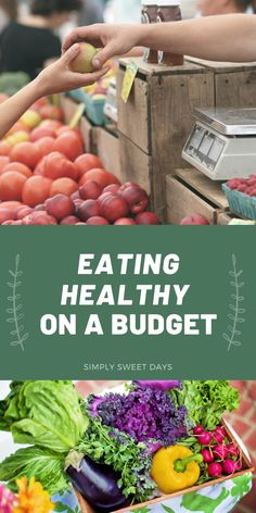Eating healthy doesn't have to break the family budget. These tips will teach you how to save money as you shop for healthy food on a budget. Easy Family Dinners, Family Meals, Easy Meals, Living On A Budget, Family Budget, Eating Healthy, Healthy Food, Healthy Recipes, Discount Grocery