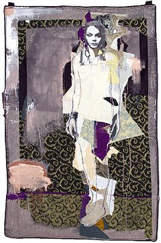 Por amor al arte: Jylian Gustlin Collages, Collage Artists, Illustrations, Illustration Art, Textiles Sketchbook, Atelier D Art, Collage Art Mixed Media, Textile Fiber Art, Art Journal Pages