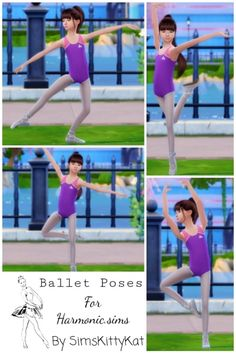 sims 4 cc // custom content pose pack // kids Ballet Poses by Simskittykat