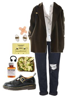 """Brunch"" by elizacameron ❤ liked on Polyvore featuring Dr. Martens, Børn, Topshop, CASSETTE and Better Late Than Never"