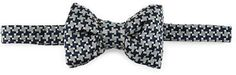 Tom Ford Large Houndstooth Bow Tie, Blue
