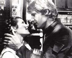 I love you...I know. ♥ Han Solo & Princess Leia | The Empire Stikes Back (1980) Harrison Ford and Mark Hamill turned Star Wars into Chick flick material