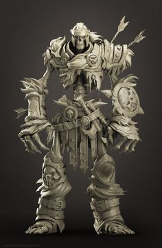 """Fan Art- Skeleton soldier(Darksiders-II) Concept-https://in.pinterest.com/pin/362469469982811735/  It was done for practice during the training at """"Little Red Zombies"""". The purpose of The practice was character study.  Special thanks to Ankit and Sriram for the Art Direction. Thanks to Nesar (https://www.artstation.com/artist/n3600) for helping me out with renders."""