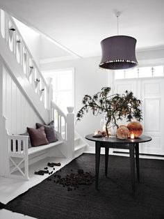 I would take the table and all on it away! This entry is most beautiful clean and simple.