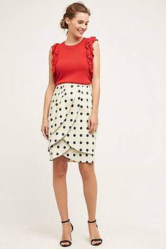 Polka-Dot Pencil Skirt  #Anthropologie
