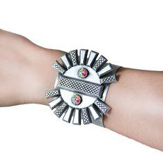 $250 Silver Facets Cuff Bracelet by Bita Pourtavoosi.  Shop here: http://www.trendcy.com/silver-facets-cuff-bracelet/