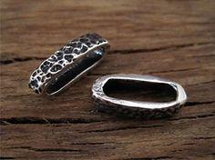 Textured Artisan Sterling Silver Bracelet by VDIJewelryFindings