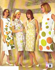 1960s fashion pictures...yikes, really?  don't remember this..