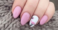 This one is for all the flamingo lover! You'll Be Tickled Pink by These 30 Flamingo Nail Art Ideas https://www.popsugar.com/node/43205670