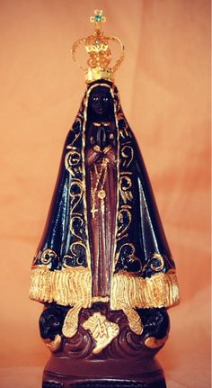 A statue of Our Lady of Aparecida, Brazil.