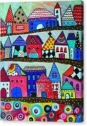 Lugar Feliz Canvas Print by Pristine Cartera Turkus