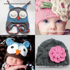 Gorritos de lana para bebés - Ropita de bebe - Para bebés - Charhadas.com