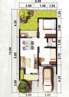 Amazing Beautiful House Plans With All Dimensions - Engineering Discoveries Duplex House Design, Duplex House Plans, Small House Design, Dream House Plans, Modern House Design, Tiny House Layout, House Layout Plans, House Layouts, The Plan