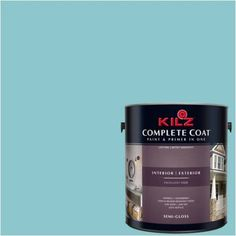 Kilz Complete Coat Interior/Exterior Paint & Primer in One #RF180-01 Glacial Waters
