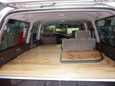 This is a good 4Runner sleeping platform that folds back neatly when either/both rear seats need to be used.