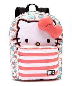 Another great find on #zulily! Blue & Pink Hello Kitty Stripe Backpack by Hello Kitty #zulilyfinds