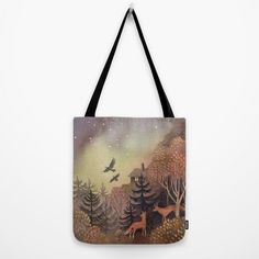 North Sky Canvas Tote Bag by Ulla Thynell - x Reusable Tote Bags, Sky, Heaven, Heavens