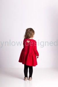 Marszczona sukienka czerwona