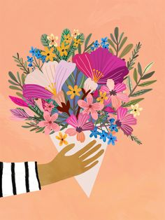 Floral illustration by Mia Charro Illustrator and magic seeker Art And Illustration, Floral Illustrations, Illustrations Posters, Art Floral, Deco Boheme, Guache, Klimt, Art Drawings, Art Paintings