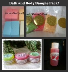 bath and body sampler pack   normasbathandbody - Bath & Beauty on ArtFire  -----------------  Look at what you get for just 15.75   what a way to sample handmade (goodies)