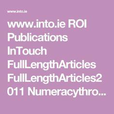 ie ROI Publications InTouch FullLengthArticles Irish, Public, Teacher, Maths, Pdf, Inspiration, Organization, Biblical Inspiration, Professor