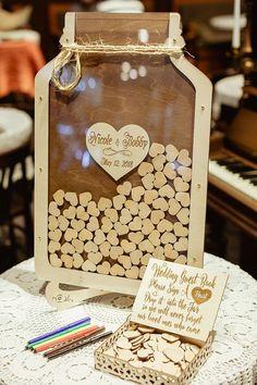 33 Ideas Diy Wedding Guest Book Alternative Mason Jars For 2019 Wedding Book, Diy Wedding, Fall Wedding, Rustic Wedding, Wedding Gifts, Dream Wedding, Crafty Wedding Ideas, Wedding Souvenir, Wedding Advice