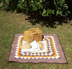 An Autumn Day Quilt 39 inch square In Fall by MadewithLovebyDeena, $60.00