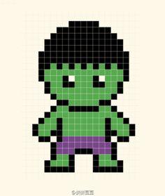 The Hulk Perler Bead Pattern
