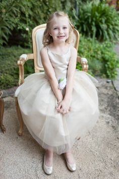 Such a sweet flower girl: http://www.stylemepretty.com/little-black-book-blog/2015/01/19/elegant-summer-napa-valley-wedding/ | Photography: Megan Clouse - http://www.meganclouse.com/
