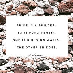 Pride is a bricklayer - building walls between you and people you love. 💭 . . . . . . . #thoughtfulthursday #darlingmovement… Piece Of Me, Pride, Gay Pride