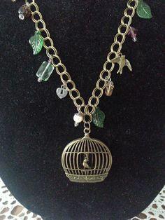 Beautiful Handmade Bird cage Bronze Charm by BESTBUYONLINES