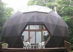 Дачный домик в виде геокупола