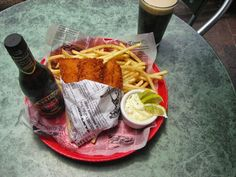 A bit of Ireland in - Texas?? yes! Fish and chips, Durty Nelly's Pub, San Antonio