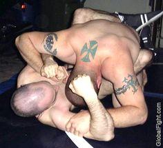 tattooed skinhead bikers fighting