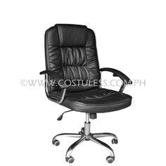 Product Code: MBC-117N Sale Price:P4 399.00  Description: Ergodynamic™ Mid Back Office Faux Leather Chair Product  Measurement: 65L x 51W x 108-115Hcm Chair Capacity: 80kgs.  Classification: MEDIUM DUTY  Usage: OFFICE USE   Warranty: 6 months on movable parts warranty for correct usage, after parts available (see usage policies)