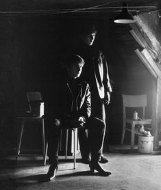 With a little help from my friends.  (At Stuart Sutcliffe's Studio)