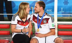 Childhood sweethearts: Lisa Wesseler and Benedikt Hoewedes have been together since high s...