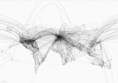 flight pattern map, when researching maps I looked into flight paths and did drawn interpretations of these linear patterns