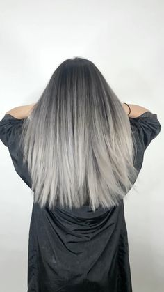 Ginger hair color How to Choose the Perfect Hair Style Article Body: Want to have that perfect hairs Grey Hair Wig, Ash Grey Hair, Silver Ombre Hair, Grey Blonde Hair, Silver Blonde, Ombré Hair, Ombre Hair Color, Hair Color Balayage, Hair Highlights
