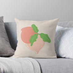 Buy Pillows, Throw Pillows, Cozy House, Original Art, Peach, Cushions, Bright, Abstract, Illustration